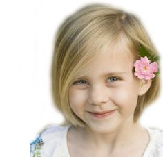 Short Bob With Side Swept Bangs For Kids