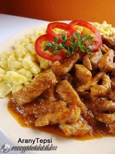 Érdekel a receptje? Kattints a képre! Küldte: aranytepsi Hungarian Cuisine, Hungarian Recipes, Hungarian Food, Pork Dishes, Food 52, My Recipes, Entrees, Bacon, Good Food
