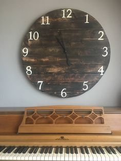 Oversized Farmhouse Rustic Wall Clock