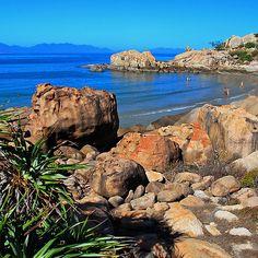 'Horseshoe Bay Bowen Queensland Australia' by Janette Rodgers Coast Australia, Queensland Australia, Australia Travel, My Travel Map, Travel Oz, Living In Adelaide, Tropic Of Capricorn, Horseshoe Bay, Land Of Oz