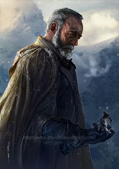 The Broken Man: Melancholic Illustration of Ser Davos by ertacaltinoz