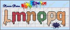 Paint or Painted Alphabet l-q