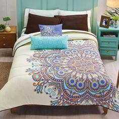 Xel-Ha Beige Comforter Set
