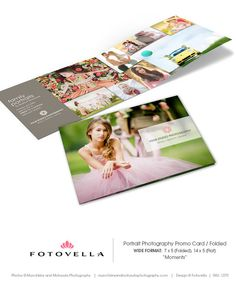 Photography Marketing Postcard Wide Format Folded by FOTOVELLA - Photoshop Templates for Photographers