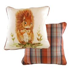Country Squirrel 43x43cm Cushion