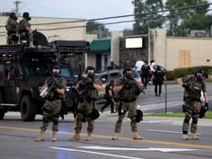 """""""Let's be clear: this is not a war zone""""  """"Bring it. You fucking animals, bring it,"""" one police officer was caught on video telling protesters. In Ferguson and beyond, it seems that some police officers have shed the blue uniform and have put on the uniform and gear of the military, bringing the attitude along with it. - Business Insider"""