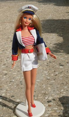 Carnival Cruise Barbie: Introduced in 1997, she's a collector's item now. If you find her, ask where she got that belt.