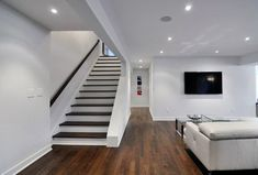 basement renovations,remodel basement,fix up basement,basement plans Basement Staircase, Basement Steps, New Staircase, Staircase Remodel, Modern Basement, Modern Stairs, Staircase Design, Basement Plans, Stair Design