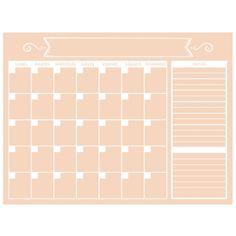 Planificador mensual melocotón   Muguet
