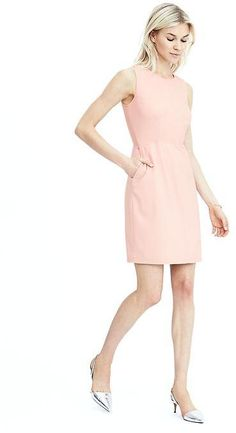 New Banana Republic Pink Luxe Brush Twill Shift Dress Second item ship free Shift Dresses, Dresses For Work, Women's Dresses, Outfits 2016, Cool Outfits, Minimal Wardrobe, Career Wear, Classy Women, Classy Lady