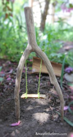 Fairy gardens swing miniature how to tutorial