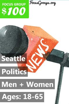 Do you live in Legislative District 45? If so, you may qualify for an upcoming study about politics! Fieldwork Seattle is looking for people 18-65 to participate in a study on Monday, July 17th at our Kirkland office. The groups will take place in the evening and will last 105 minutes. You will receive a $100 prepaid visa card for your time and opinions. If you are interested in participating, please sign up and take the survey to see if you qualify or give us a call at (425) 822-8900 and…