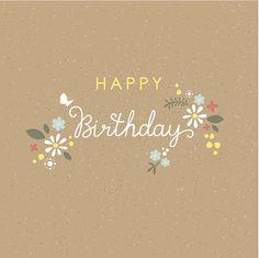 Fleur carte de joyeux anniversaire avec caractères en métal - Illustration vectorielle