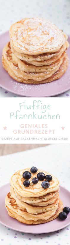 Fluffig, dick und weich - so müssen American Pancakes sein. Am besten kombiniert man amerikanische Pancakes mit Blaubeeren oder Ahornsirup! Da können deutsche Pfannkuchen nicht mithalten.