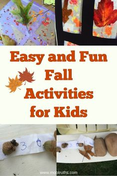 Fun and easy DIY crafts and activities for kids. Perfect kids autumn activities to celebrate the best season ever! Sensory Activities Toddlers, Autumn Activities For Kids, Spring Activities, Fun Activities, Mothers Of Boys, Globe Crafts, Diy Crafts For Kids, Fall Crafts, Easy Diy Crafts