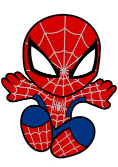 Krafty Nook: Spiderman Fan Art SVG - Visit to grab an amazing super hero shirt now on sale! Spiderman Bebe, Superhero Pictures, Baby Superhero, Superman, Chibi, Clip Art, Fan Art, Drawings, Artwork
