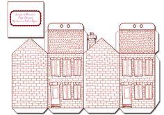 free printable house gift box boite cadeau mini maisons à