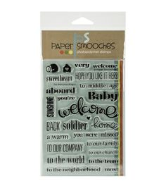 Paper Smooches Welcome Wagon Clear Stamps