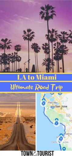 Los Angeles to Miami Ultimate Road Trip includes Map & Route, Public Transport Road Trip Between los Angeles and Miami, Florida. Bus, Amtrak Train, Which is the Driving route? Should you fly? #LA #LosAngeles #roadtrip #usa #Miami #Route #map via @townandtourist Road Trip Map, Road Trip Hacks, Road Trips, Canada Travel, Travel Usa, Usa Miami, Miami Florida, Ways To Travel, Travel Tips