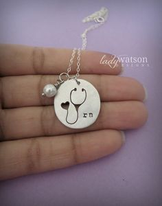 Nurses RN Necklace Stethoscope Necklace RN by LadyWatsonDesigns, $28.00