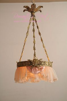 antique French ormolu and lace chandelier