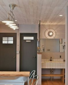 Ceiling Lights, Mirror, House, Furniture, Home Decor, Garage, Ideas, Carport Garage, Home