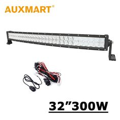 """94.30$  Buy here - http://alihgu.worldwells.pw/go.php?t=32410231756 - """"Auxmart 32 inch 300W Curved LED Light Bar CREE Chips 5D Fit Pickup Truck SUV 4X4 4WD ATV 12V 24V Offroad Driving 32"""""""" Led Bar"""" 94.30$"""