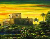 """""""Castello di Brucoli"""" - Dipinto olio su tela : Dipinti di artstudioidea"""