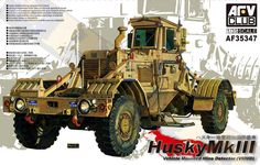 AFV Club AF35347 Husky Vehicle Moundted Mine Detector MK III.
