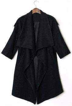 Chicwish Drape Black Cape
