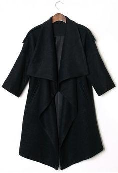 Chicwish Drape Black Cape  #CHICWISH