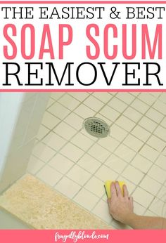Dealing with soap scum in your shower or bath? Easily clean the shower with the … Dealing with soap scum in your shower or bath? Easily clean the shower with the best soap scum remover. It removes the soap scum with little to no scrubbing. Deep Cleaning Tips, House Cleaning Tips, Cleaning Solutions, Spring Cleaning, Cleaning Recipes, Cleaning Products, Best Soap Scum Remover, Soap Scum Removal, Homemade Toilet Cleaner