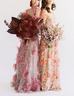 Bridesmaid Inspiration, Wedding Inspiration, Style Inspiration, Wedding Trends, Wedding Styles, Unconventional Wedding Dress, Floral Headpiece, Whimsical Wedding, Floral Fashion