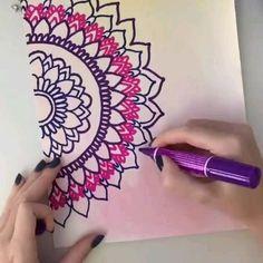 Easy Mandala Drawing, Mandala Doodle, Simple Mandala, Mandala Art Lesson, Doodle Art Drawing, Mandala Artwork, Mandala Sketch, Watercolor Mandala, Zen Doodle