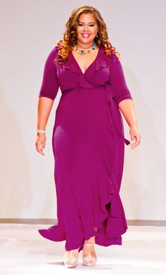 Feel flirty in our plus size Maritime Maxi Dress. As seen at this year's Full Figured Fashion Week. www.kiyonna.com