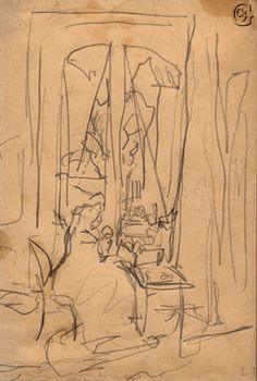 Jean Edouard Vuillard, Mme Vuillard, Sewing at her Window, 1923 Edouard Vuillard, Art Sketches, Art Drawings, Avant Garde Artists, Gesture Drawing, Art Moderne, Japanese Prints, Texture Art, Gravure