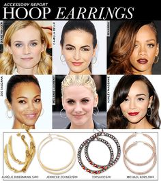 Frame Your Face With A Pair of Stylish Hoop Earrings- hoop earrings done right
