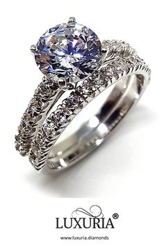 Fake Diamond Rings that look REAL from Luxuria Diamonds Cubic Zirconia Engagement Rings, Diamond Engagement Rings, Diamond Simulant, Heart With Arrow, Dream Ring, Engagement Ring Settings, Anniversary Rings, Round Cut Diamond, Beautiful Rings