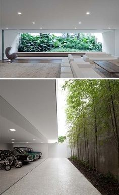 Living Room Designed by Brazilian Architect Isay Weinfeld for a Home in Sao Paulo is part of Architecture house - Exterior Design, Interior And Exterior, Future House, My House, Interior Garden, Modern House Design, Living Room Designs, Living Spaces, Small Living