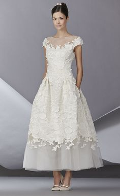 Carolina Herrera Bridal Fall 2014 Source: Carolina Herrera | Aisle Style: The Must-See Wedding Dresses at Bridal Fashion Week Fall 2014 | POPSUGAR Fashion