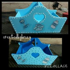 Bebek sepeti ahşap boyama Clay Art, Lunch Box, Baby Shower, Serving Trays, Boxes, Country, Baby Deco, Decorated Boxes, Diy