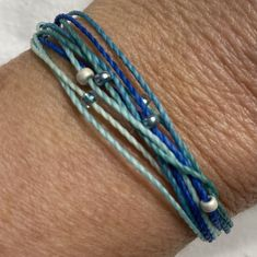 PURA VIDA STYLE Bracelet, Stackable String Bracelet, Friendship Bracelet, Surfer Bracelet by BeachyBraceletsByJJ on Etsy
