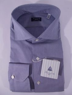 FINAMORE camicia UOMO sartoriale classica COTONE microfantasia tg. 40-42-43 NWT