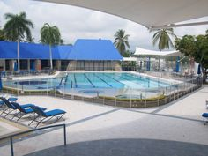 A Public Pool with a Guardian Pool Fence System. Now the pool is safe.
