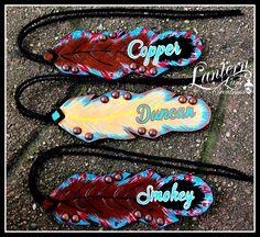 Custom personalized saddle feathers
