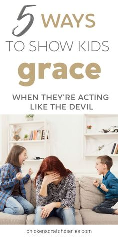 Showing kids God's grace when they least deserve it; this is what it means to love like the Savior. Tools for Christian moms. Parenting 5 Ways to Show Your Kids God's Grace - When They're Acting Like the Devil Parenting Goals, Parenting Toddlers, Parenting Styles, Gentle Parenting, Parenting Hacks, Parenting Classes, Parenting Quotes, Peaceful Parenting, Raising Godly Children