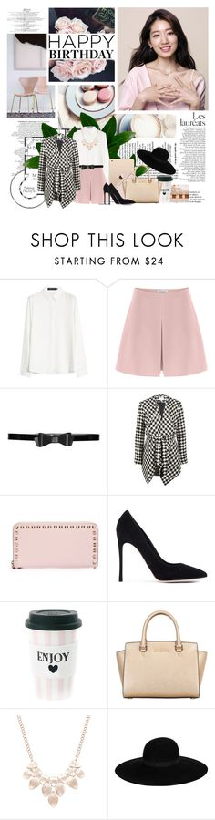 """Happy Birthday !"" by missoumiss ❤ liked on Polyvore featuring Valentino, Alice + Olivia, Jovonna, Ladurée, Gianvito Rossi, MICHAEL Michael Kors, INC International Concepts, Maison Michel and Shin Choi"