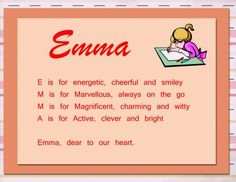Acrostic Name Poems sample for brownies making friends badge