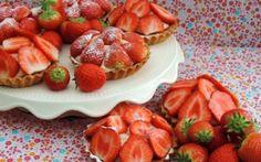 Aardbeien taartjes; Genieten van de vroege lente