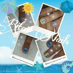 #ημιμόνιμο #one_stroke #summer_nails